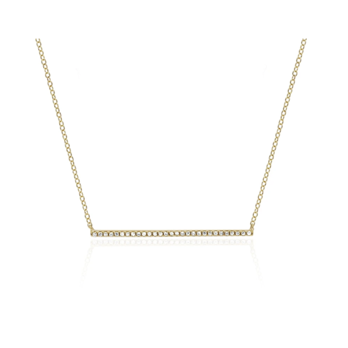 EF COLLECTION EF COLLECTION DIAMOND BAR NECKLACE
