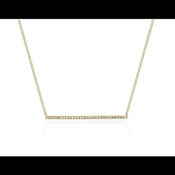 EF COLLECTION DIAMOND BAR NECKLACE