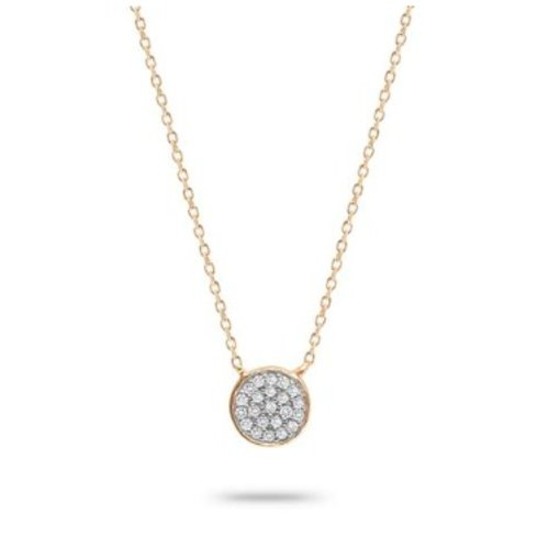 ADINA REYTER ADINA REYTER SMALL PAVE DISC NECKLACE