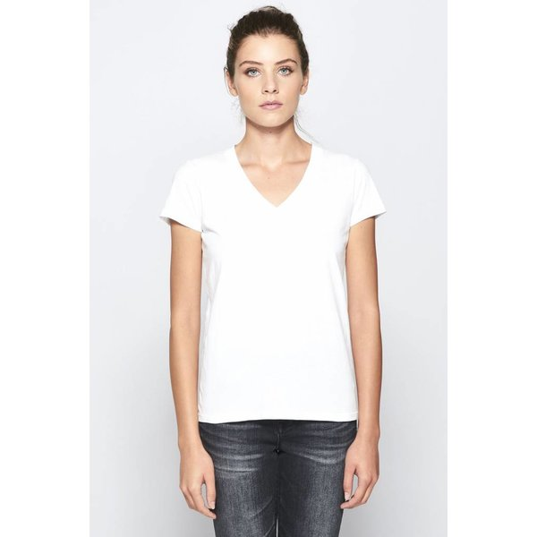 STATESIDE BRUSHED JERSEY V-NECK T-SHIRT