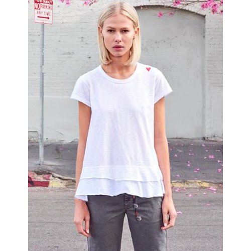 SUNDRY SUNDRY MINI HEART TIERED TEE