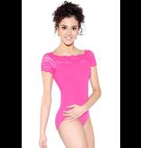 SO DANCA Cap Sleeve Lace Bodysuit