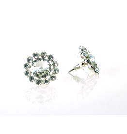 FH2 FH2 - Crystal Pierced Flower Earrings