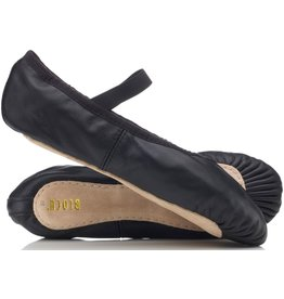 BLOCH LADIES/MENS FULL SOLE - BLACK