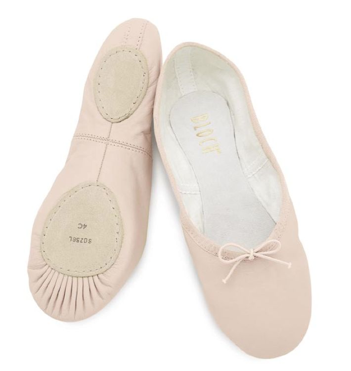 fits 10.5 Bloch S0258G Pink Toddler 11C Dansoft Leather Split-Sole Ballet Shoe