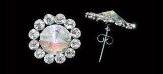 Glitter Pie - Flower Earrings AB, Pierced