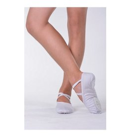SANSHA SPLIT SOLE CANVAS - WHITE by Sansha