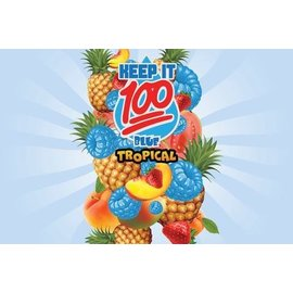 Keep It 100 Liquid Keep it 100 Blue Slushie  Tropical Salt Nic 30ml