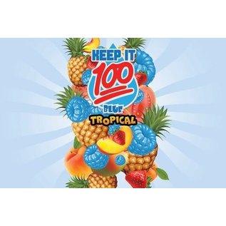 Keep It 100 Liquid Keep it 100 Blue Slushie  Tropical Salt Nic 30ml