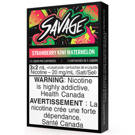 STLTH STLTH Savage Pods Straw Kiwi Watermelon (3/pack)