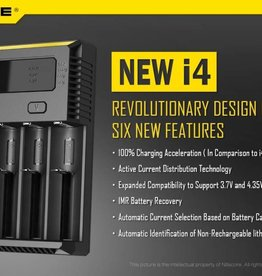 Nitecore Intellicharger NEW i4 Li-ion / NiMH Battery Charger -