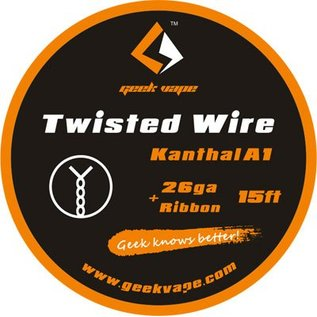 Geek Vape GEEK VAPE 15ft Twisted Wire Kanthal A1 26ga + Ribbon