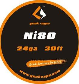 Geek Vape GEEK VAPE 30ft Ni80 Tape Wire 24ga