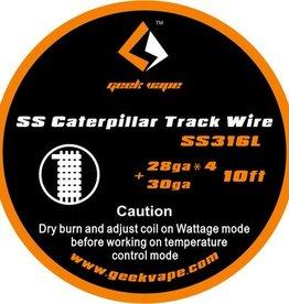 Geek Vape GEEK VAPE 10ft SS (316L) Caterpillar Track Wire 28ga x 4 + 30ga