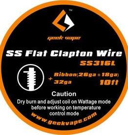 Geek Vape GEEK VAPE 10ft SS(316L) Flat Clapton Wire, Ribbon 26ga x 18ga + 32ga