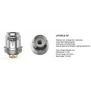 VooPoo VooPoo UForce Replacement Coil N1 Mesh Coil 0.13ohm
