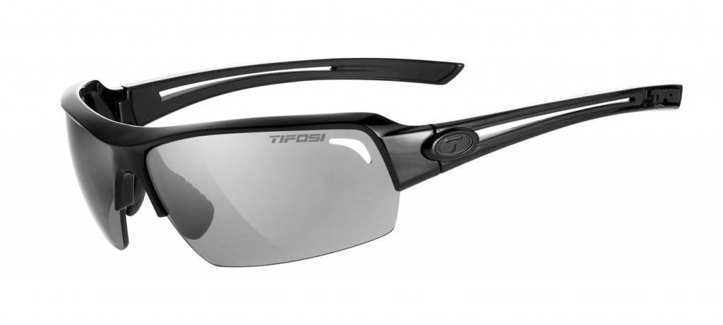 Tifosi Just, Gloss Black Polarized Sunglasses