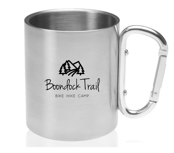 10 oz. Carabiner Handle Stainless Steel Mugs