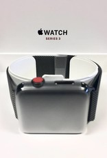New Open Box 4G/Cellular - Stainless Steel Apple Watch Series 3 - 42mm - Black Milanese Loop
