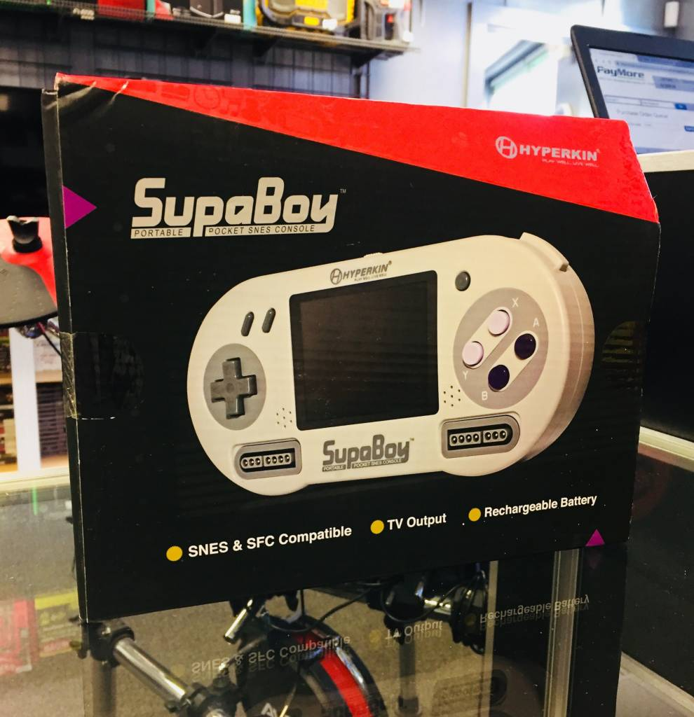 New in Box - SupaBoy Portable Pocket SNES Console Model M08888