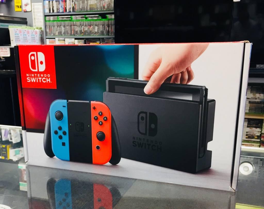 New Open Box - Nintendo Switch Console Bundle - Neon Red & Blue Joy-Con