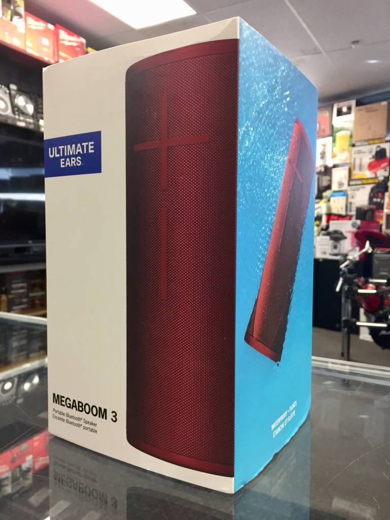 New - UE Ultimate Ears Megaboom 3 Bluetooth Speaker - Red