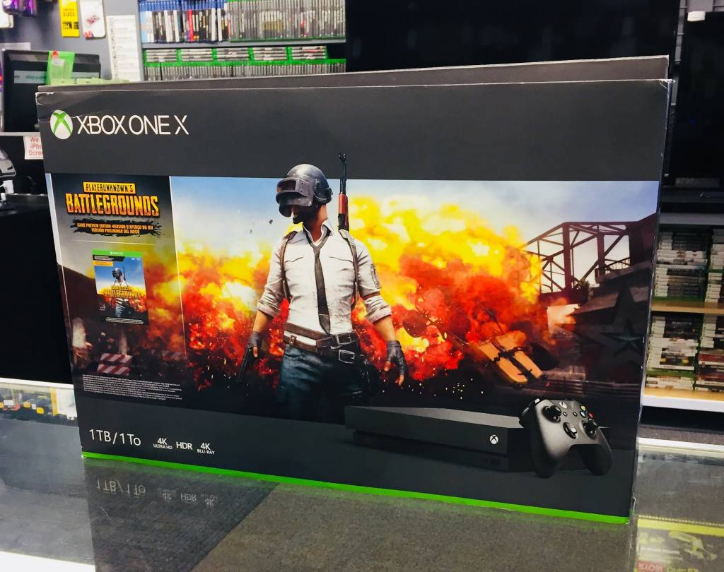 Mint in Box - Microsoft Xbox One X 1TB Console System Bundle w/ PUBG + 1 Month Gold