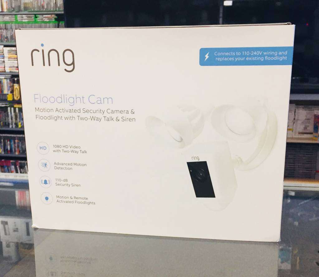 New in Box - Ring FloodLight Cam - Motion Activated Security Camera & FloodLight - 110-240V