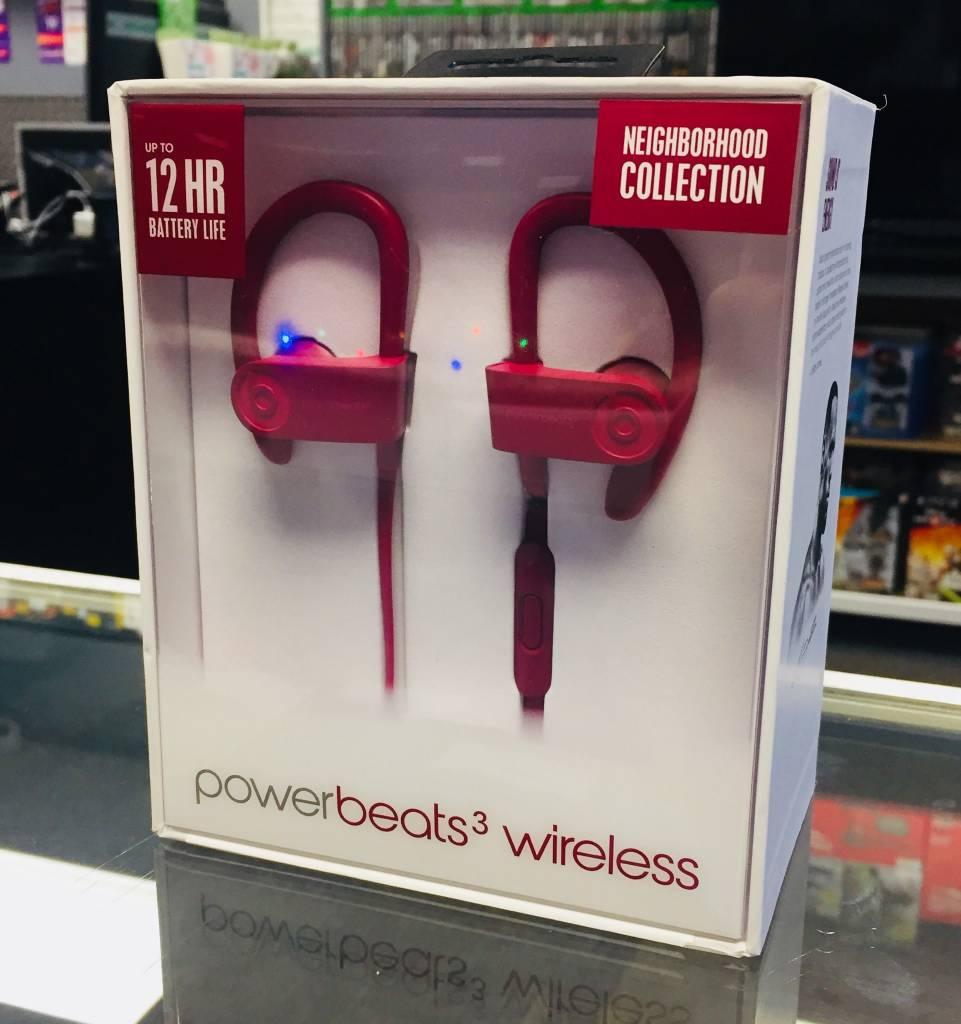 New in Box - Wireless PowerBeats 3 - Brick Red / Maroon