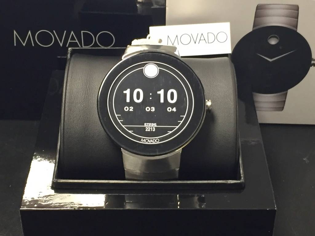 New Open Box Movado Connect 46 5mm Stainless Steel Edition Smart Watch