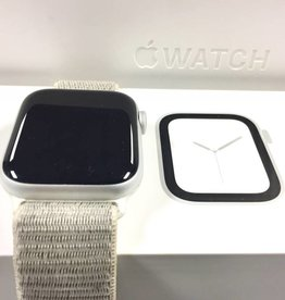4G Cellular - Apple Watch Series 4 - 44mm - Silver Aluminum w/ Seashell Velcro Band