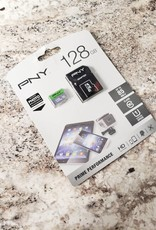 PNY	128gb Micro SD Flash Card w/ Adapter - New