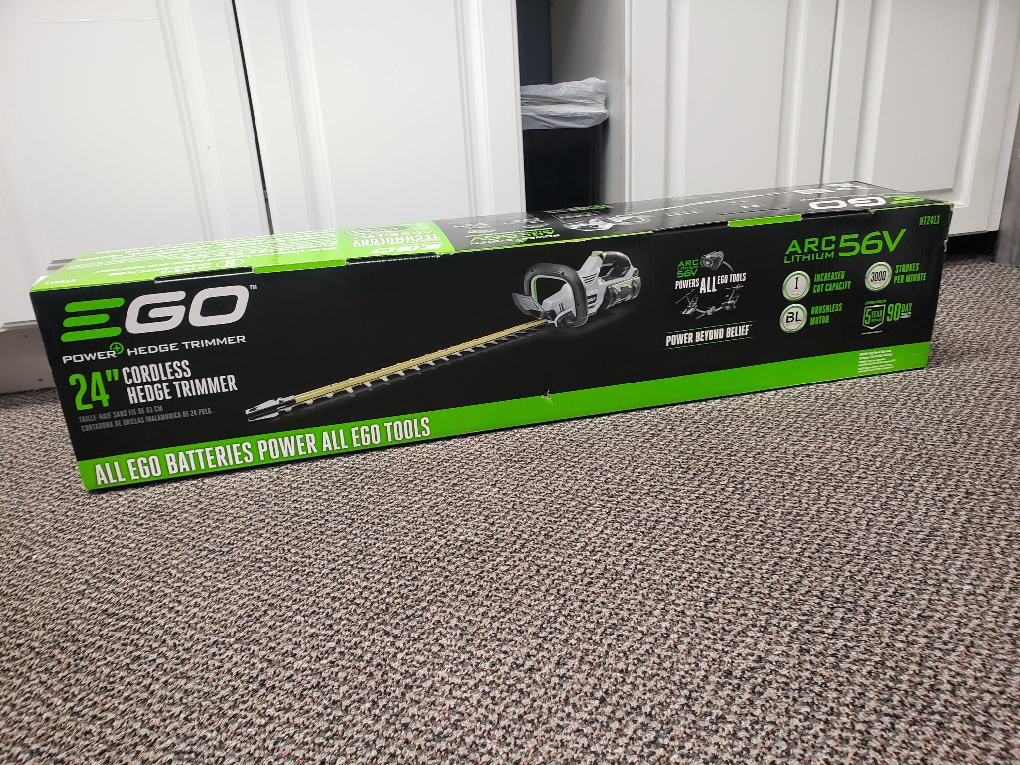 """EGO 56V Electric Cordless 24"""" Brushless Hedge Trimmer Kit - ht2411 - New"""