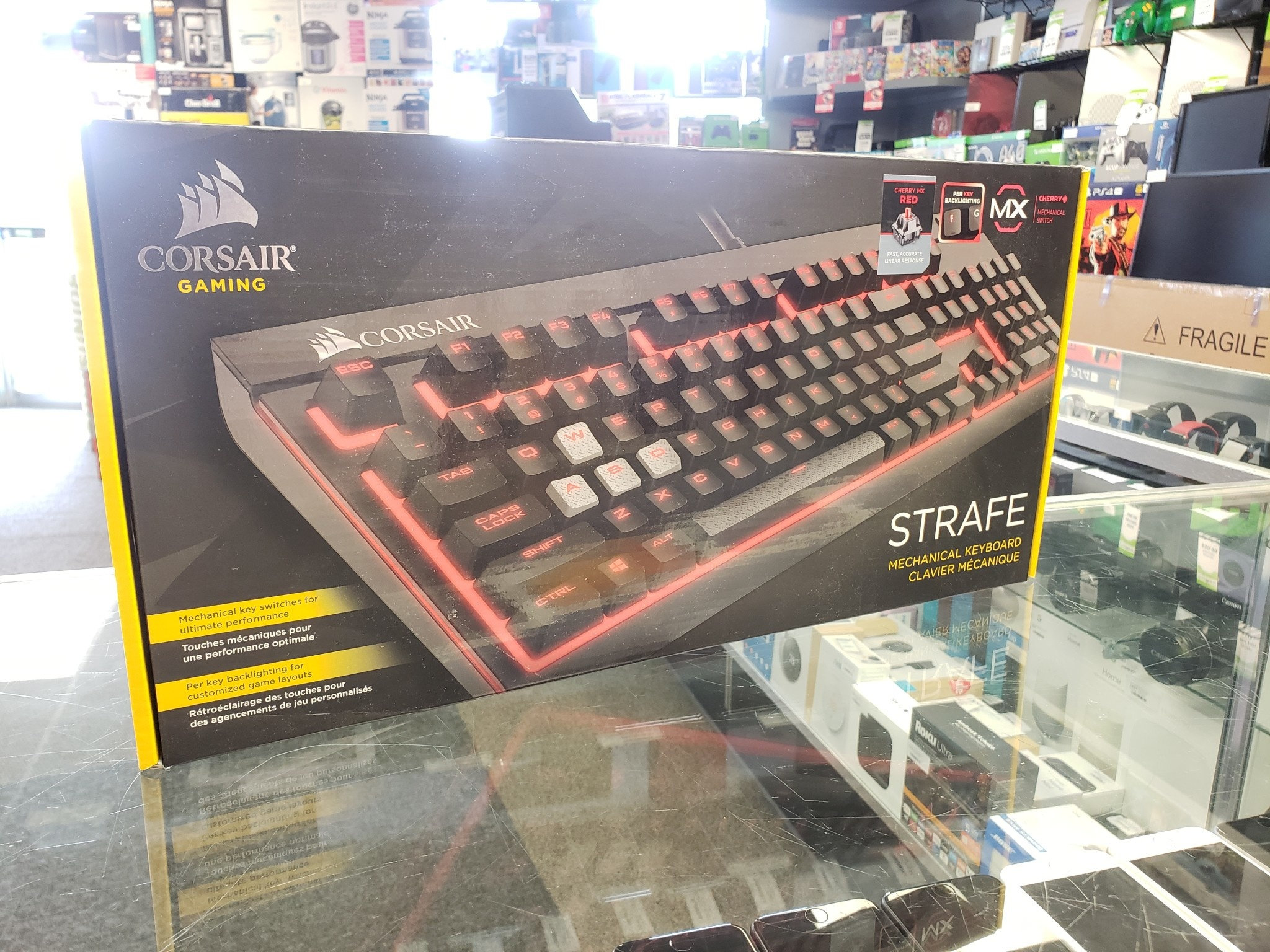 CORSAIR STRAFE Mechanical Gaming Keyboard Cherry MX Red - Used