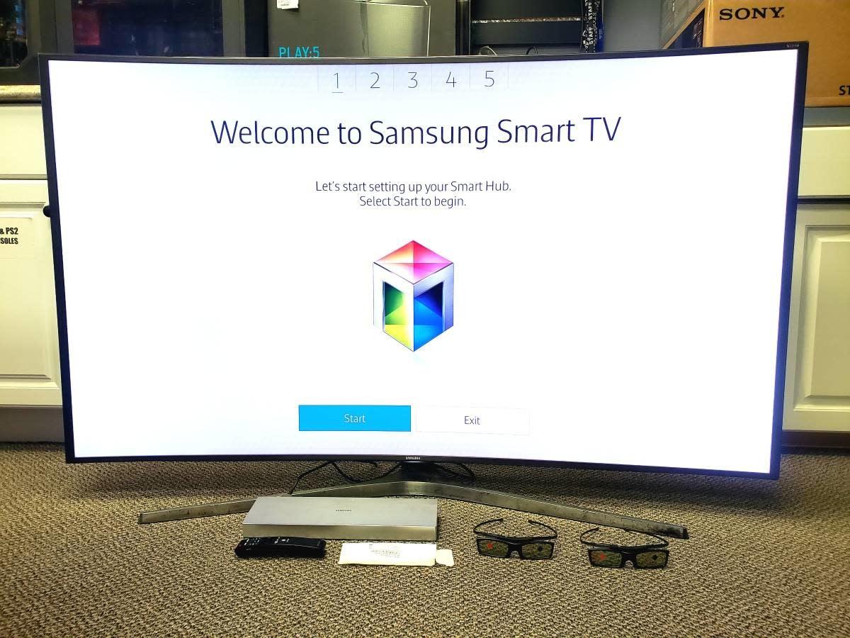 """Samsung 65""""4K 240CMR 3D Curved SUHD Smart TV - UN65js9000f"""