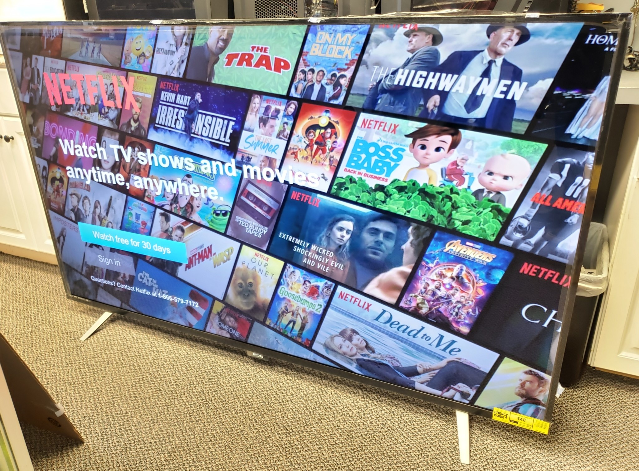 "Mint Condition - Philips 75"" 4K Smart TV - 75pfl6601/f7b"