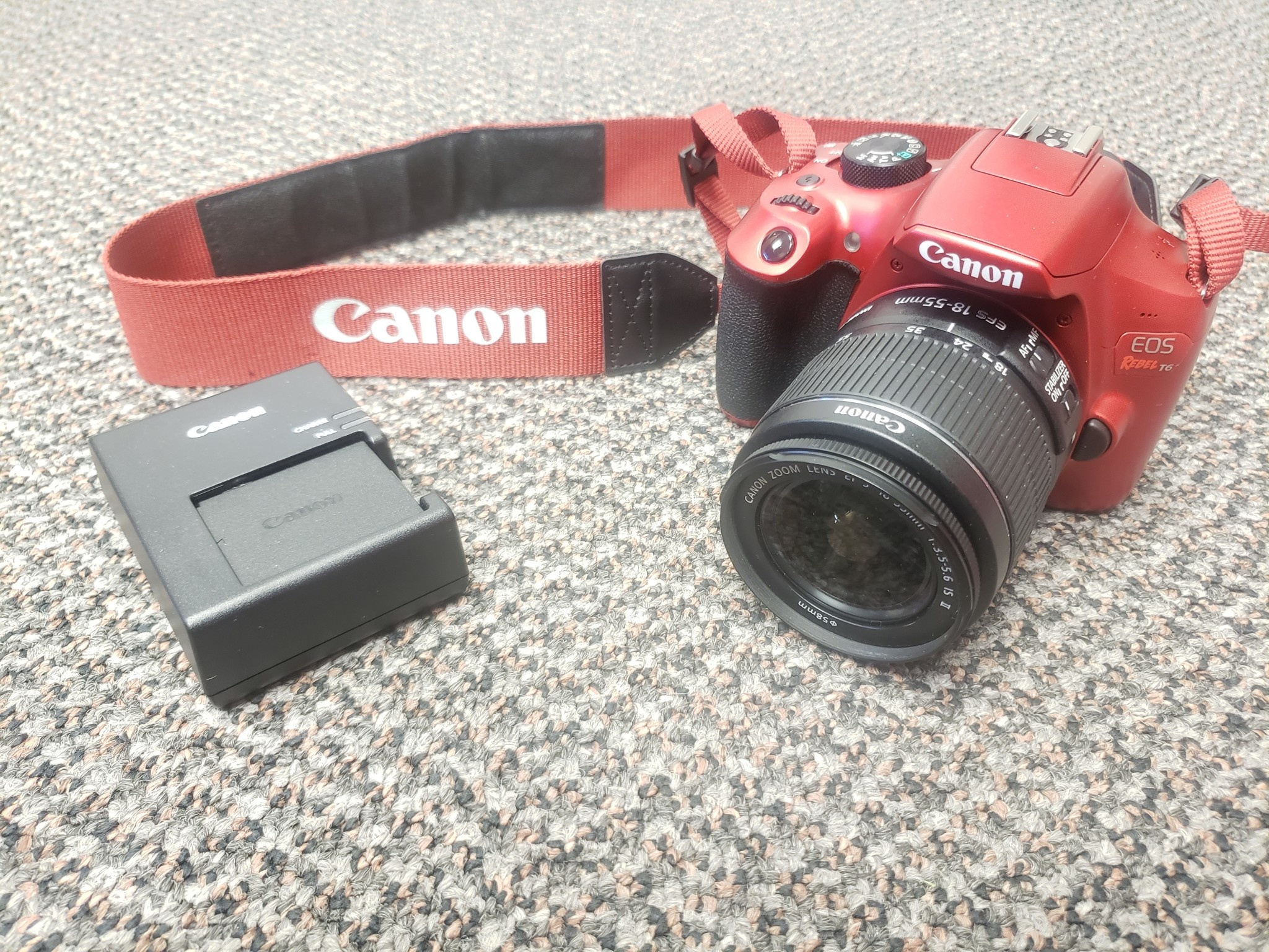 Canon Rebel T6 Red Edition - w/ Canon 18-55 IS II Lens