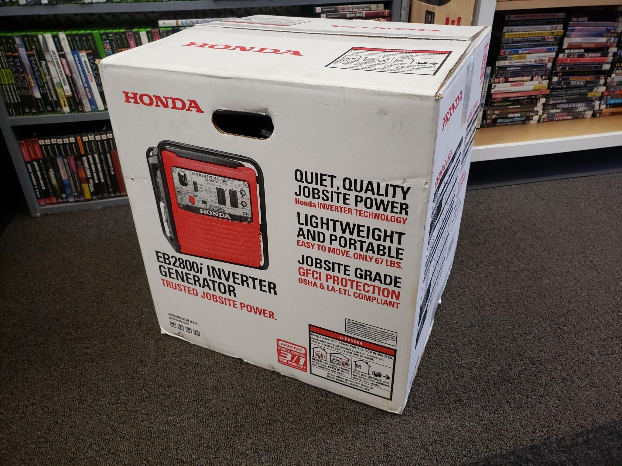 Honda 2,800W EB2800i Gas Portable Inverter Generator - New
