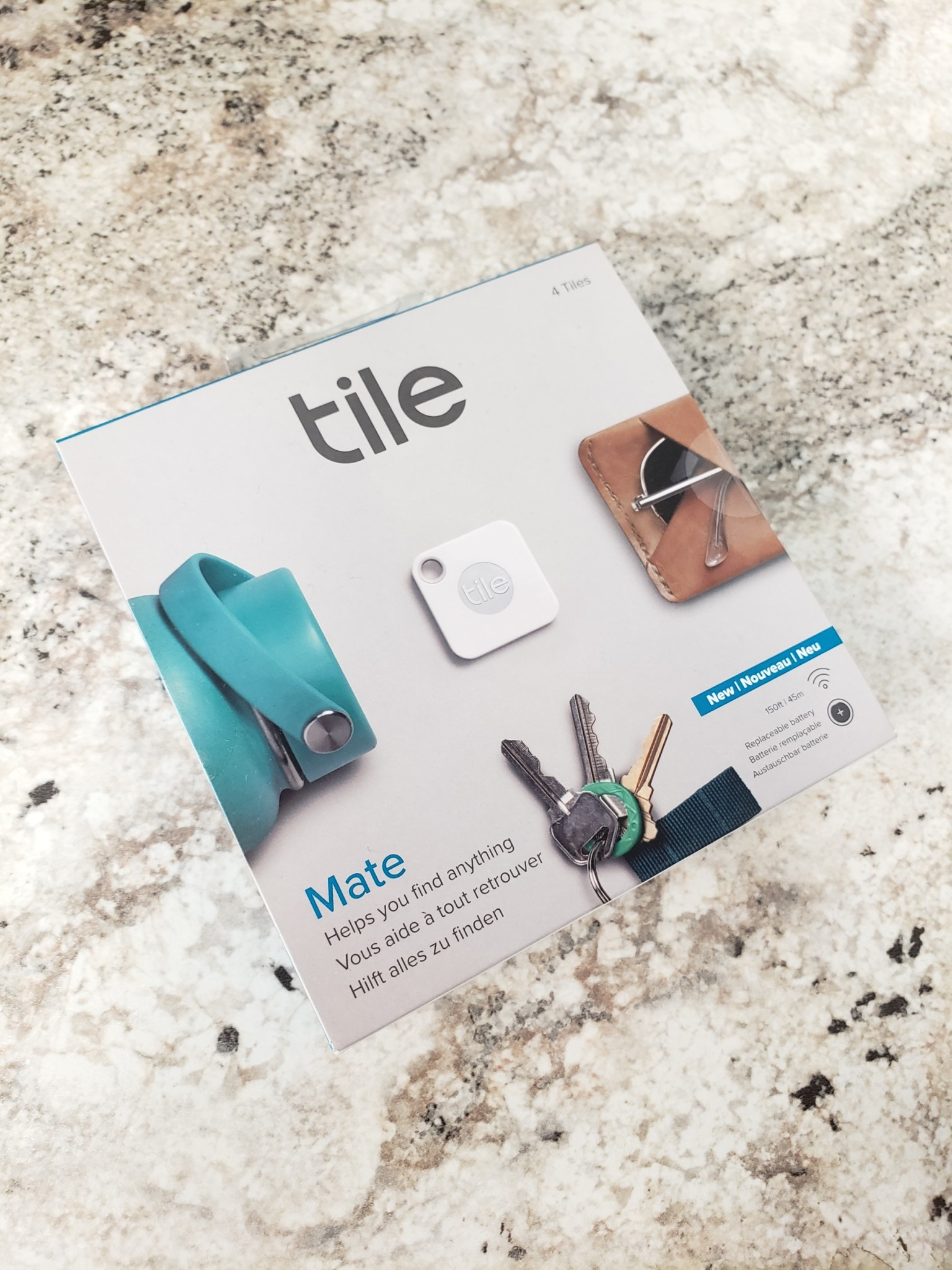 Tile Mate Device Tracker - 4 Pack - New
