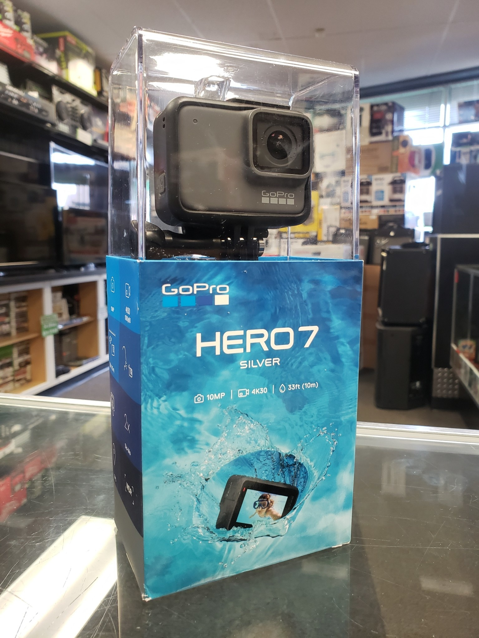 New Open Box - GoPro Hero 7 Silver - 4K Lifeproof Camera