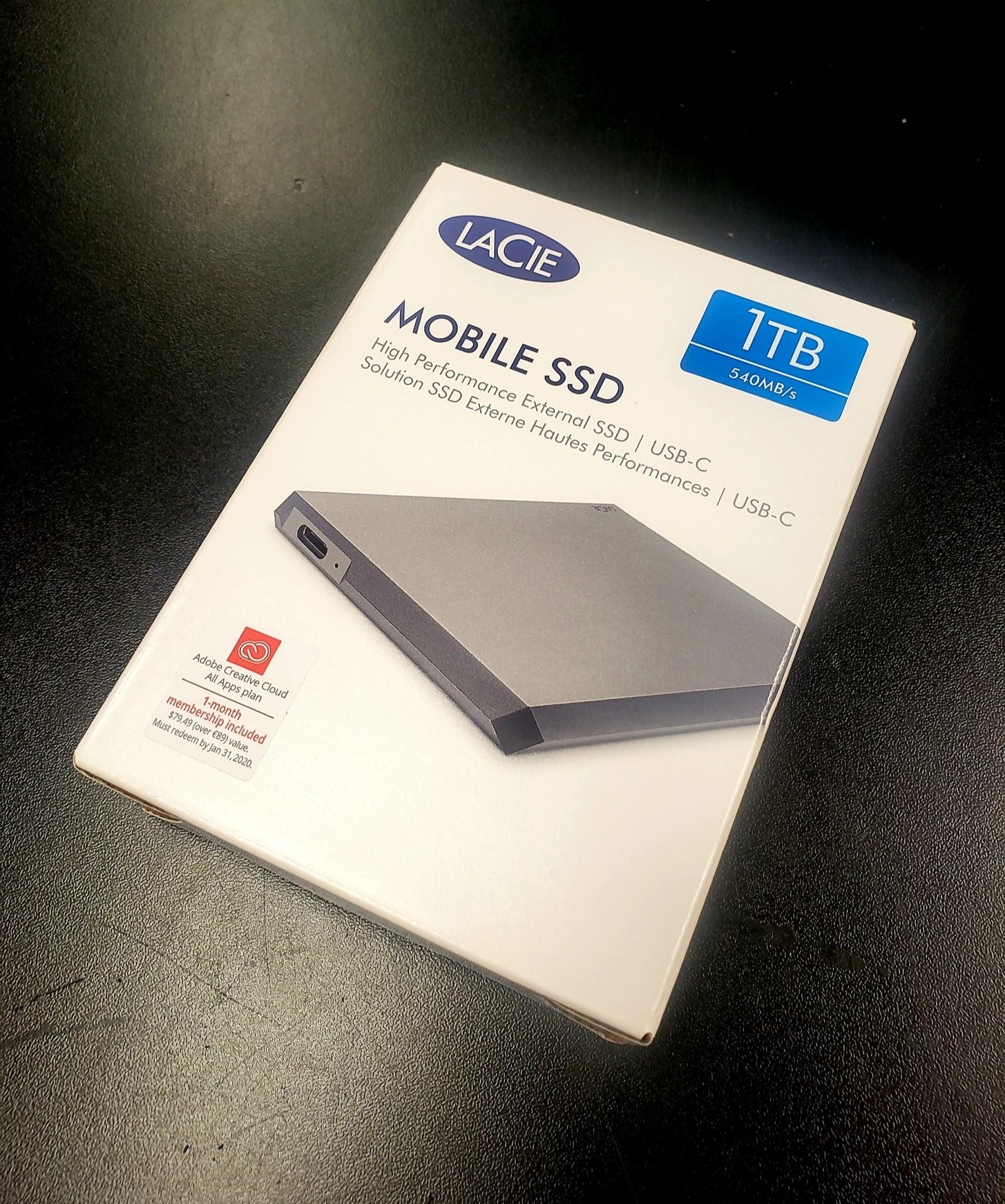LaCie Mobile 1TB External SSD Storage Drive - New