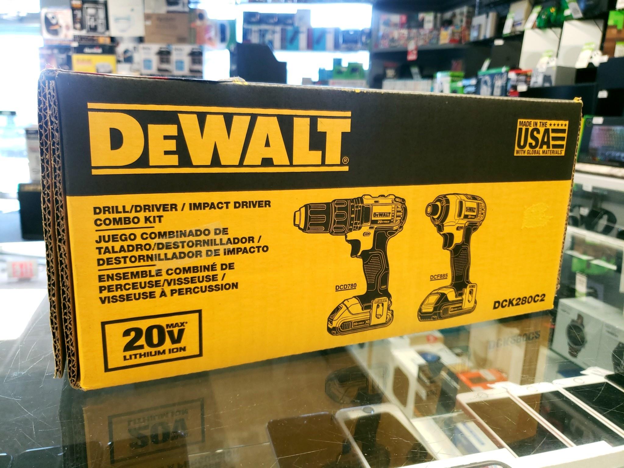 New - DeWalt 20 Volt Max XR Cordless Drill/Impact Driver Combo Kit - DCK283C2