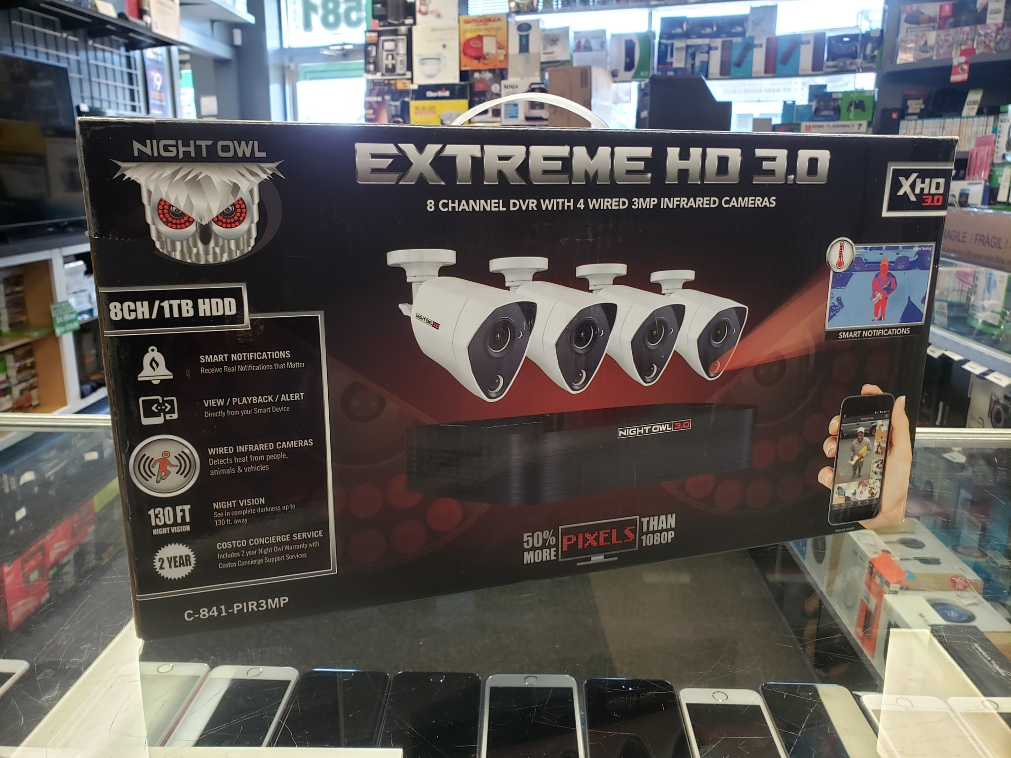 Night Owl Extreme HD 3.0 - 4 Camera / 8 Channel 1TB DVR Home Security Camera Kit