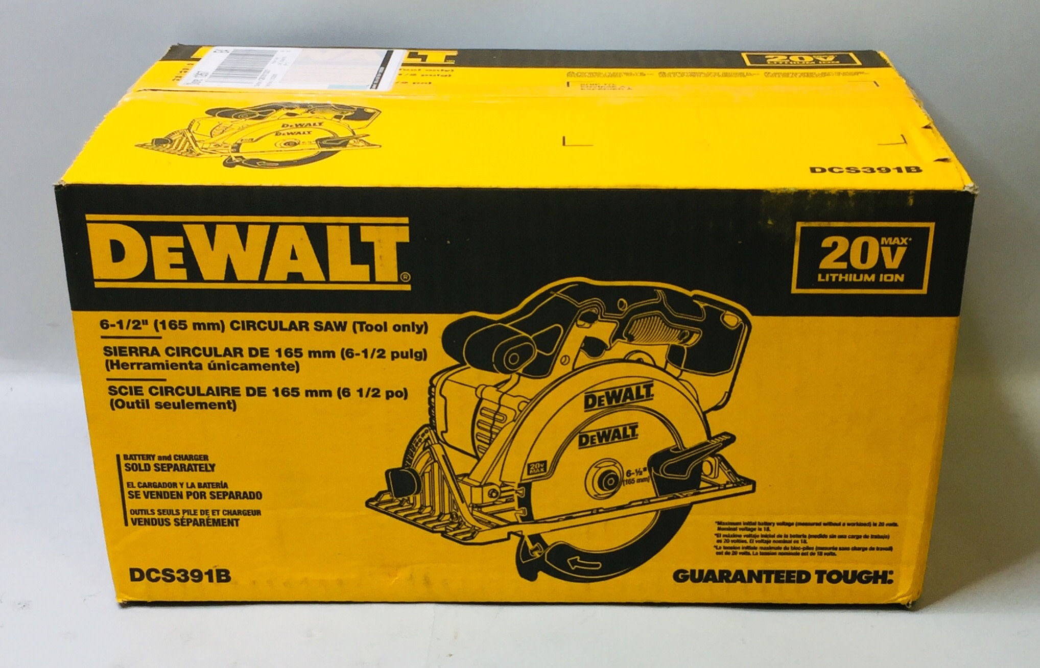 "NEW Dewalt 6-1/2"" Circular Saw (Tool Only) - DCS391B"