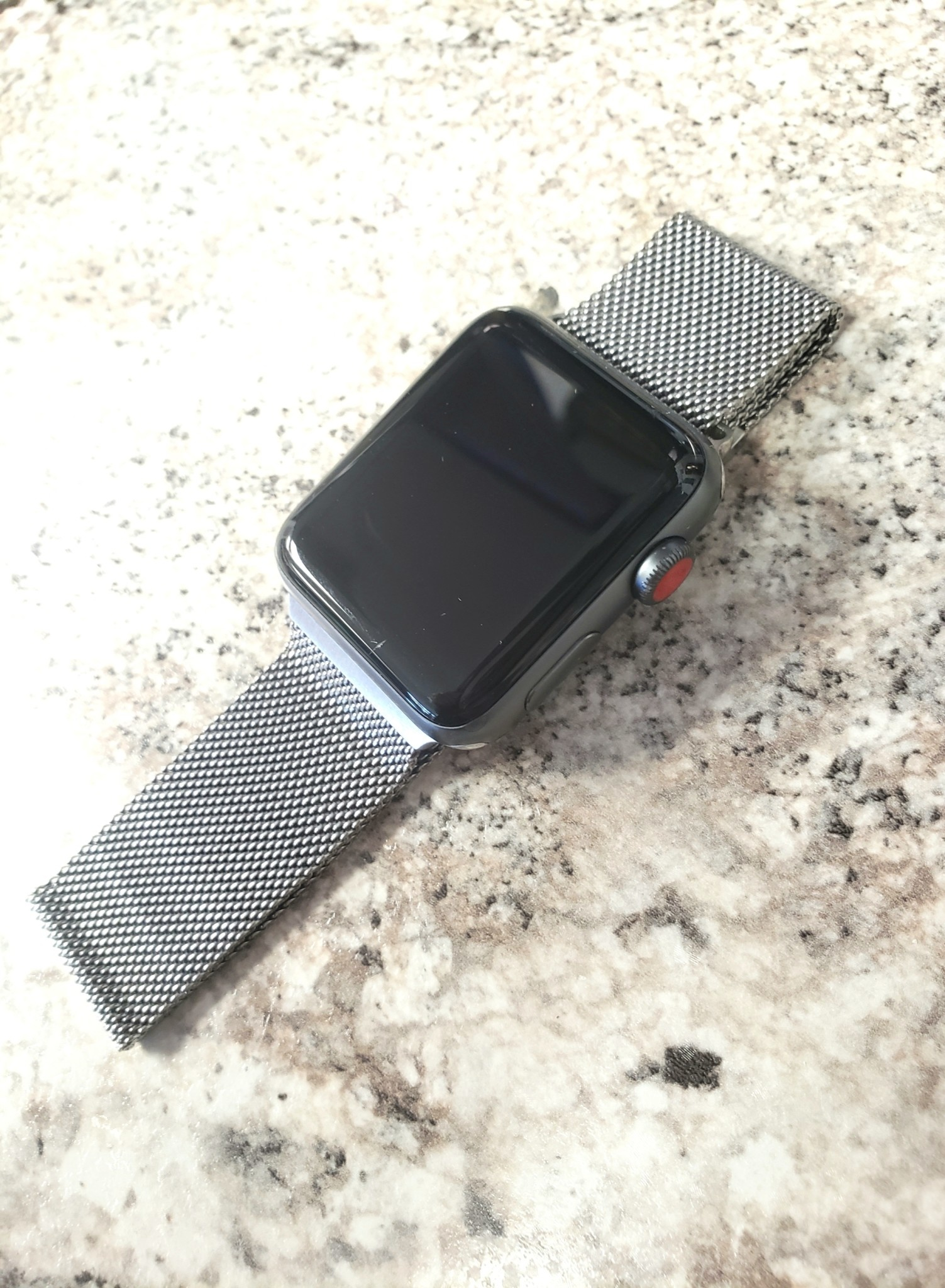 4G/GPS - Apple Watch Series 3 - 42mm - Nike + - Non-Genuine Band - Fair Condition