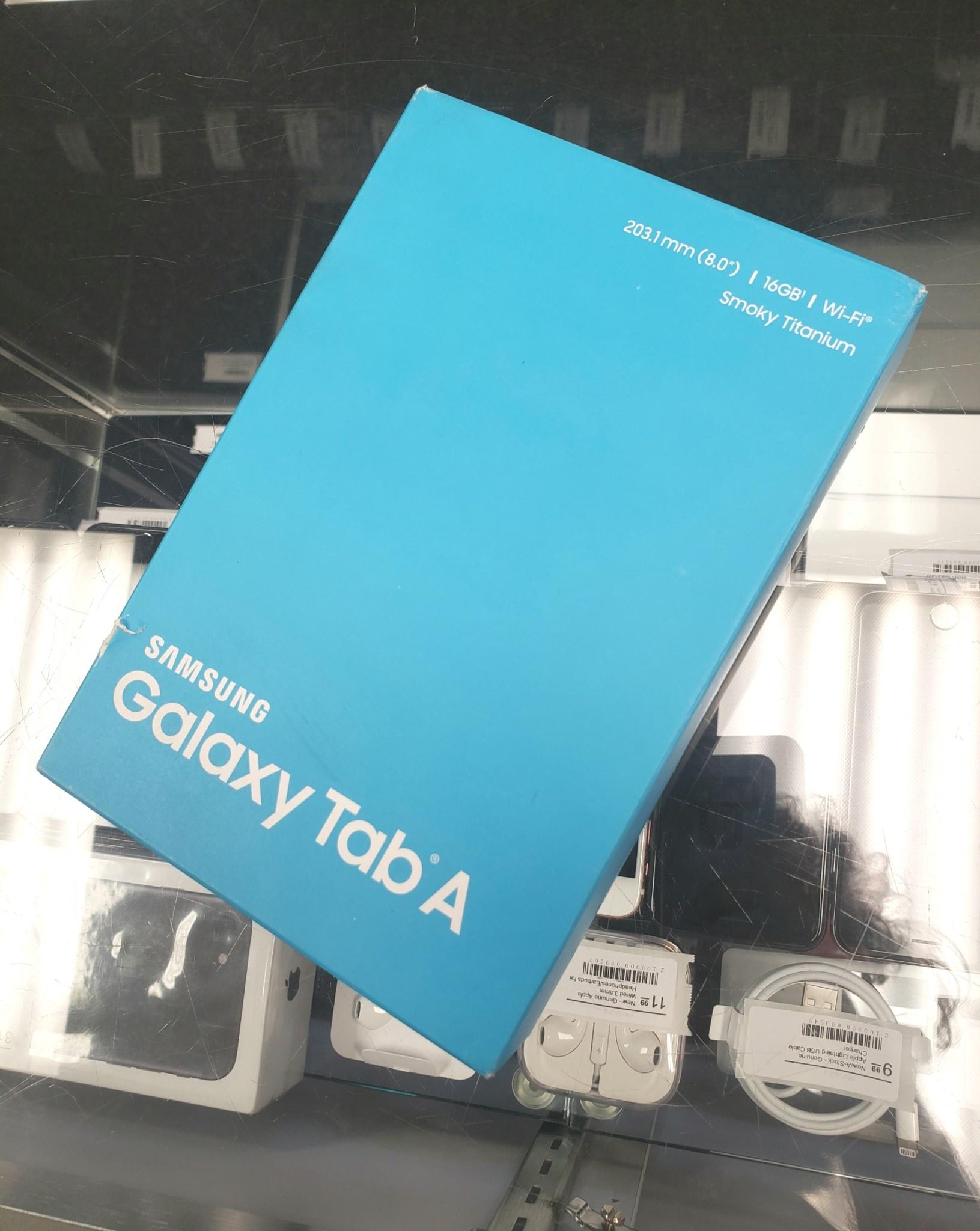 "New in Box - Samsung Galaxy Tab A 8.0"" - 16GB - Smoky Titanium - SM-T350"