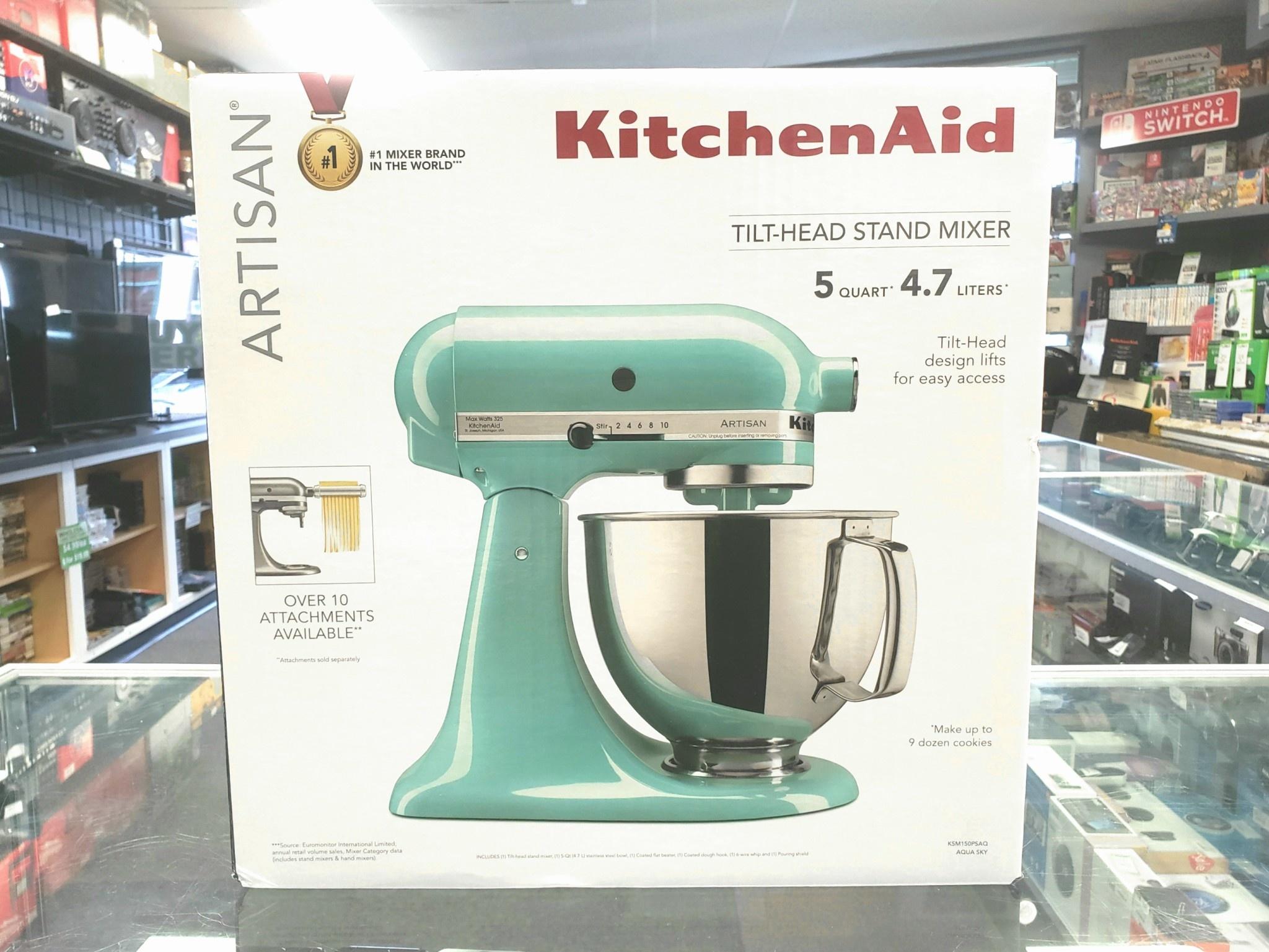 New in Box - KitchenAid Artisan 5Qt. Mixer - Ice Blue - KSM150PSAQ