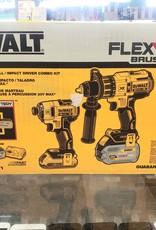 Brand New - DeWalt 20V MAX Flexvolt Hammerdrill / Impact Driver Combo Kit - dck299d1t1