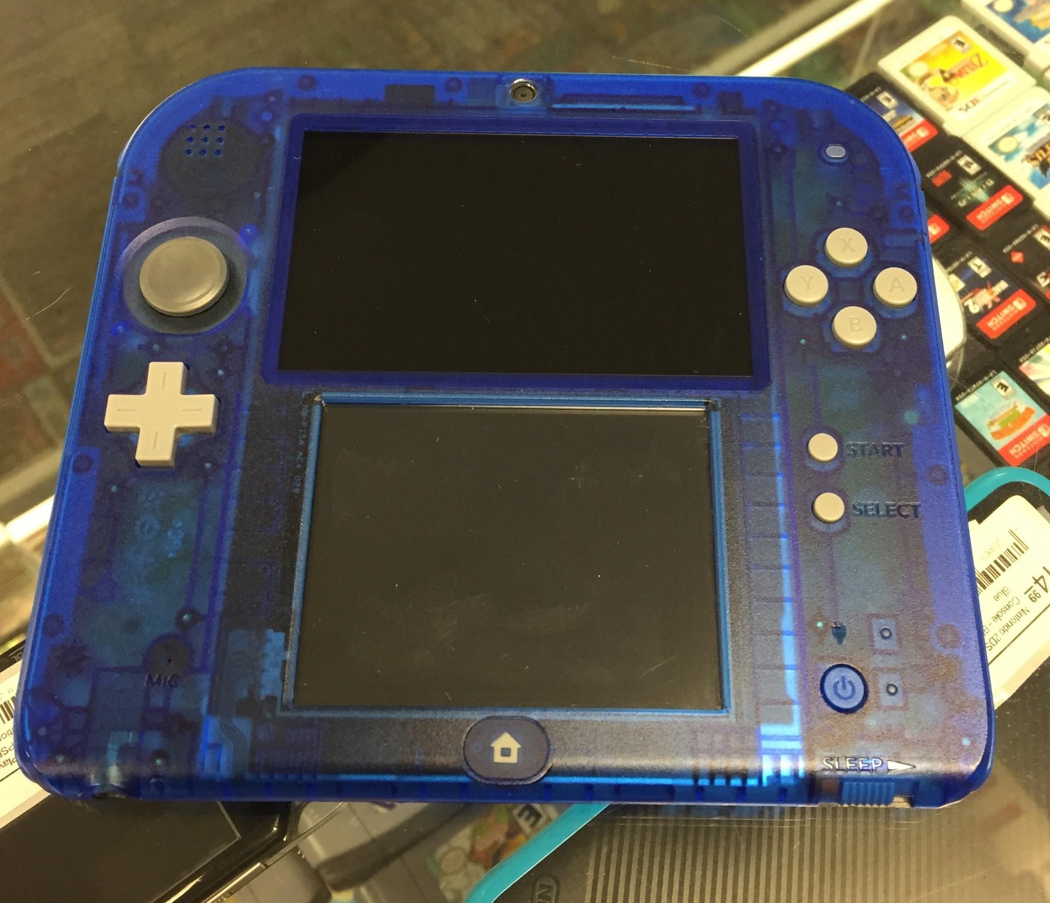 Nintendo 2DS - Handheld Console  - Crystal Blue w Stylus