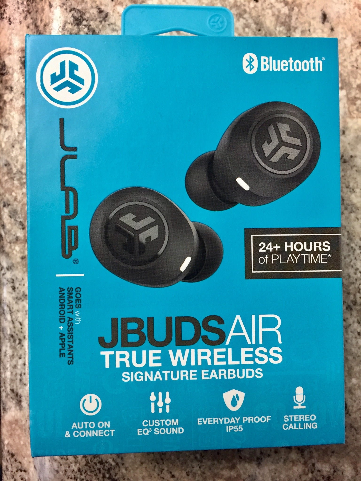 JLAB - Jbuds Air True Wireless Signature In-Ear Earbuds - Black